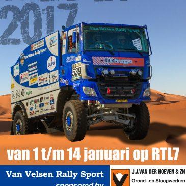 J.J. van der Hoeven en Zn. sponsort team van Velsen – DAKAR 2017